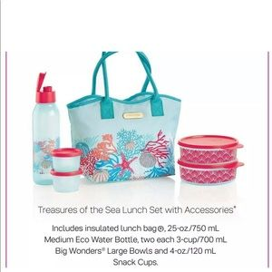 New !!! Tupperware treasures of the sea lunch set